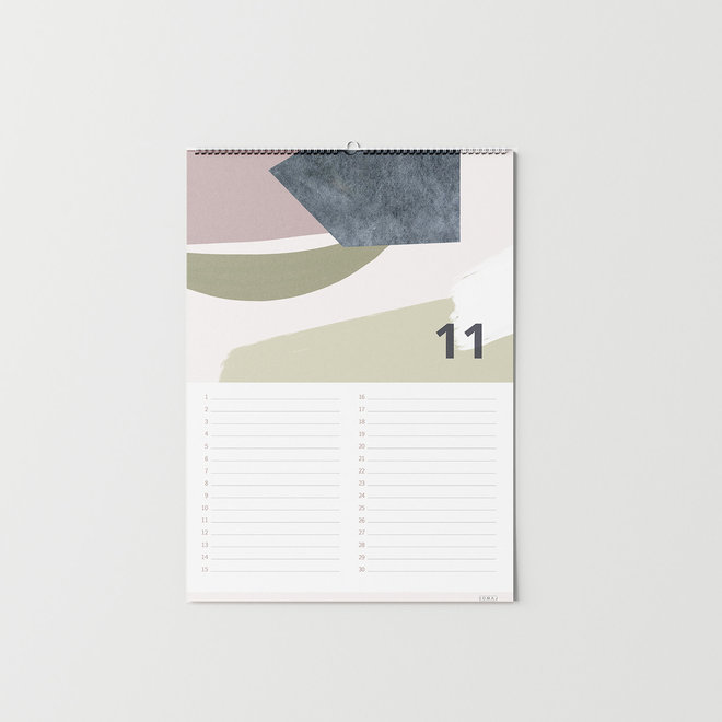 BIRTHDAY CALENDAR - A4 - ABSTRACT COLOR