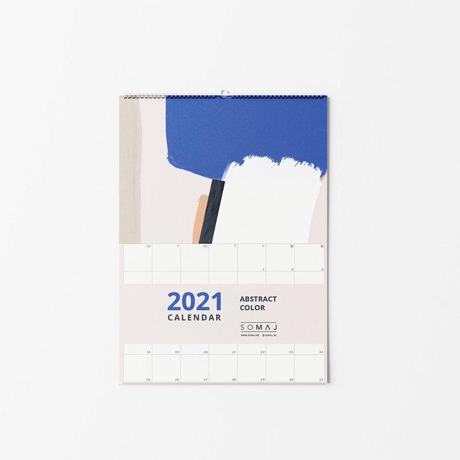 2021 WALL CALENDAR -A4 - ABSTRACT COLOR