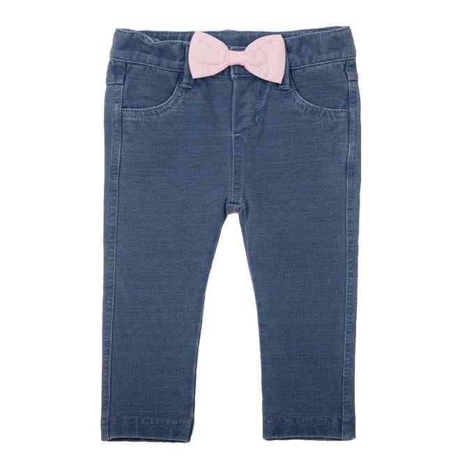 Jeany bow velvet pink