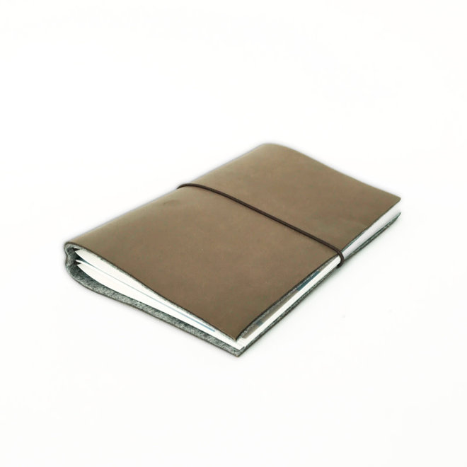 Notebook A6 - leder bruin