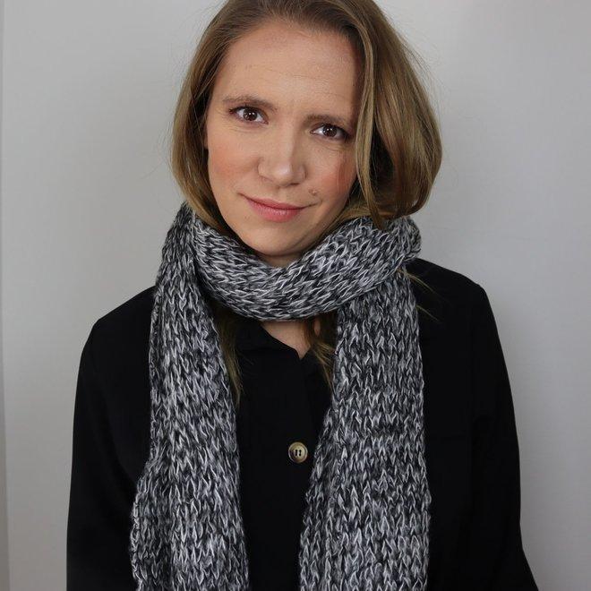 Grof gehaakte sjaal  Zwart