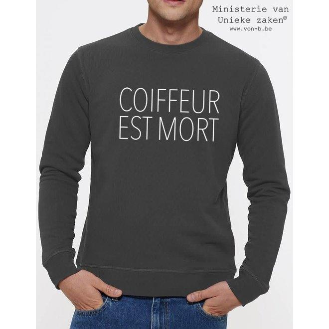 Coiffeur Est Mort Sweater Man