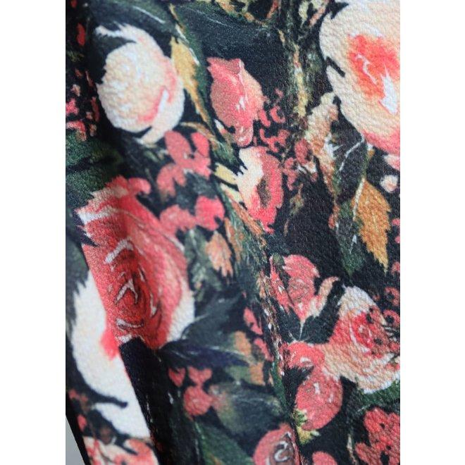 Lang bloemenkleed knoopjes en riem TU