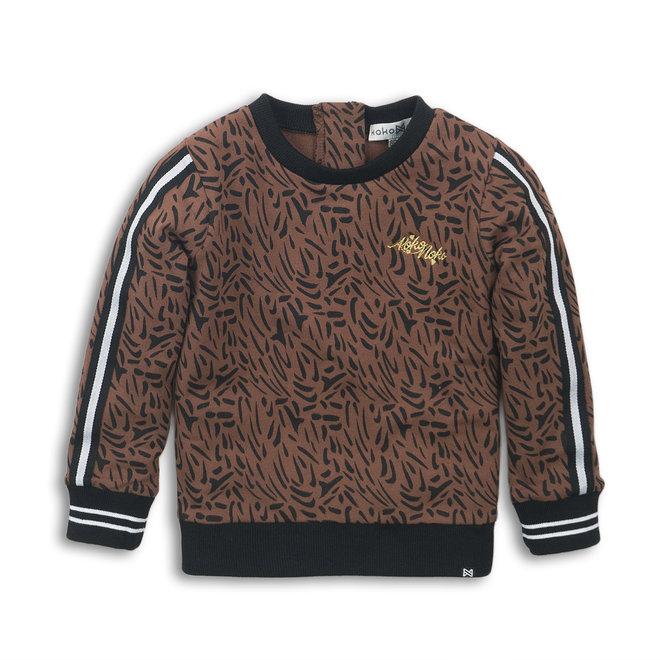 Koko Noko: sweater leopard bruin