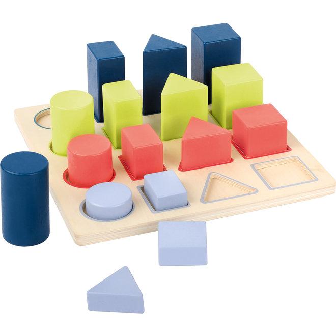 Houten puzzel: vormen