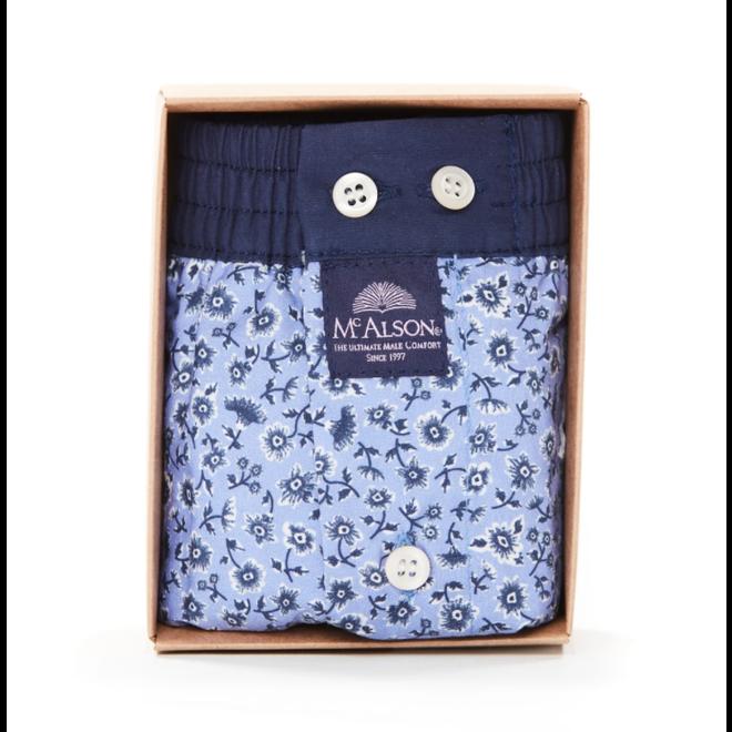 M4279 blauwe boxer met bloempjes