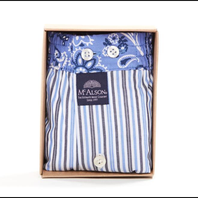 M4275 gestreepte blauwe boxershort