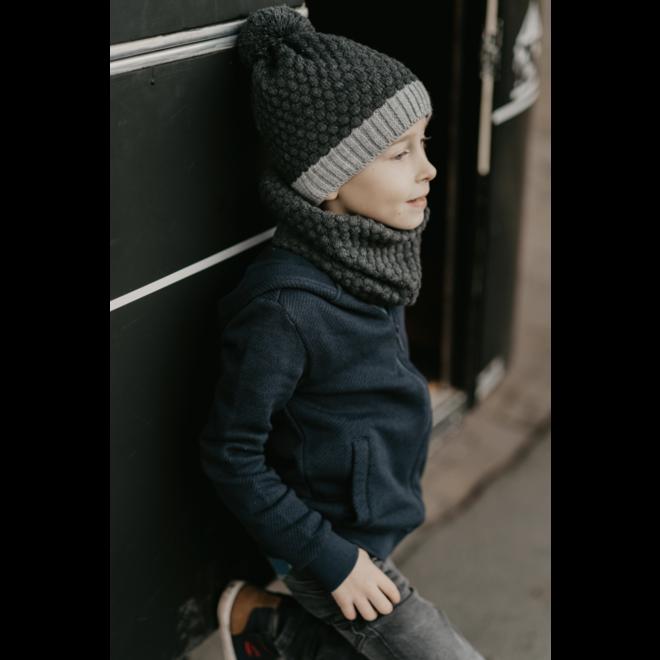 Jocko: Muts en sjaal grijstinten boys