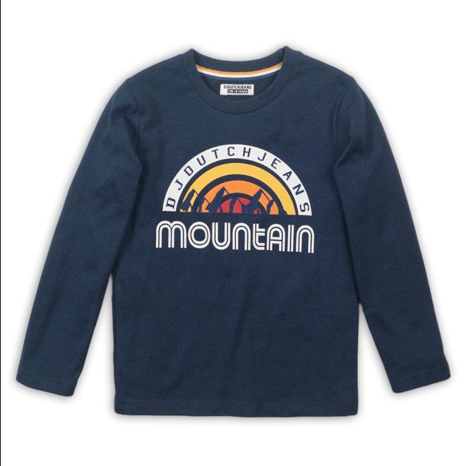 DJ dutch: longsleeve mountain blauw