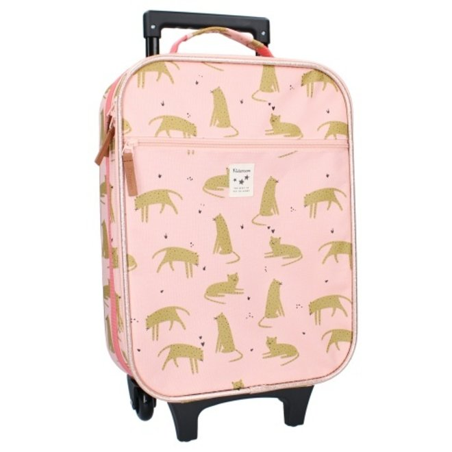 Kidzroom: koffer tijger pink
