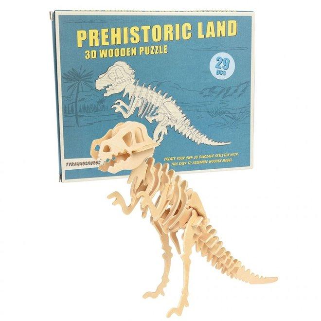 Houten puzzel :T-rex