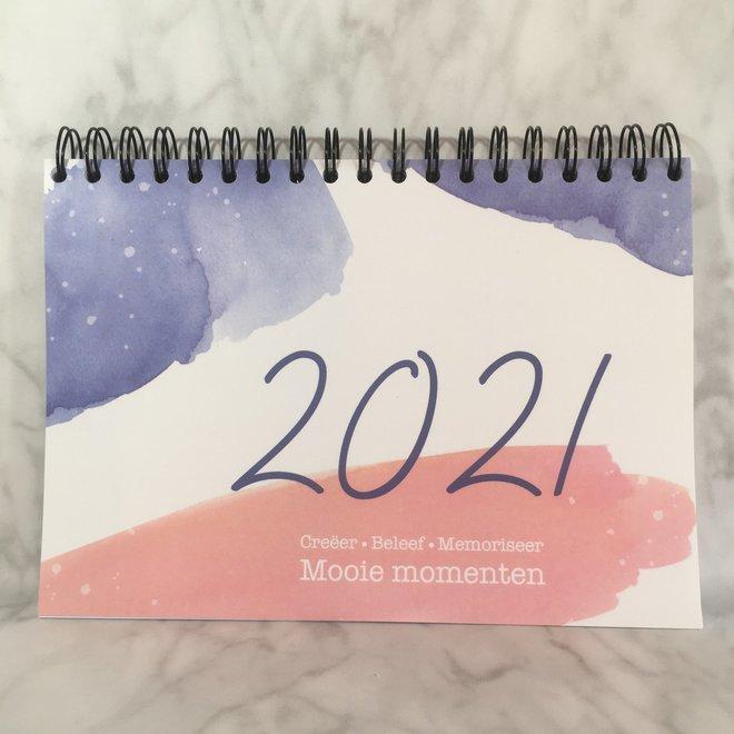 Agenda - planner 2021 roos/blauw