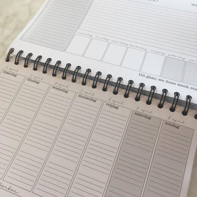 Agenda - planner 2021 blauwgroen/geel
