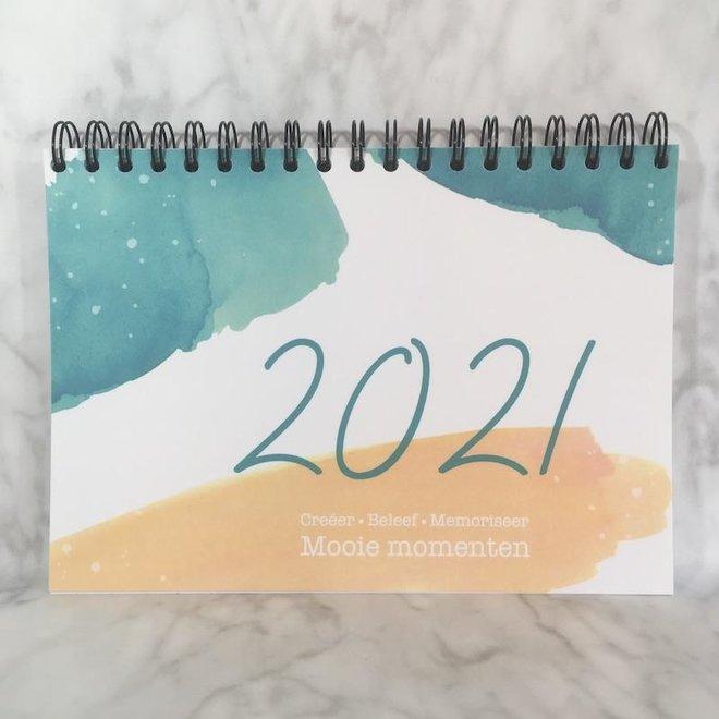 Studijoke - agenda/planner 2021- blauwgroen/geel