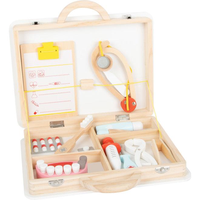 Houten speelgoed: tandarts + dokter in 1 set