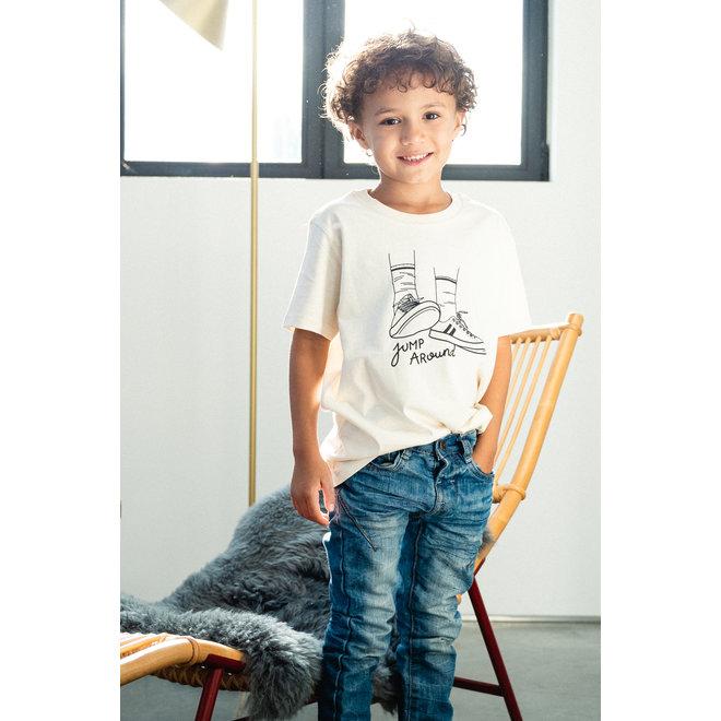Jump around - Kids natural raw T Shirt