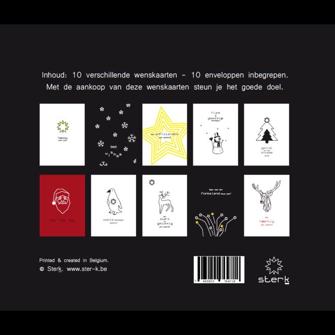 Kerstkaarten 10 stuks + 10 enveloppen