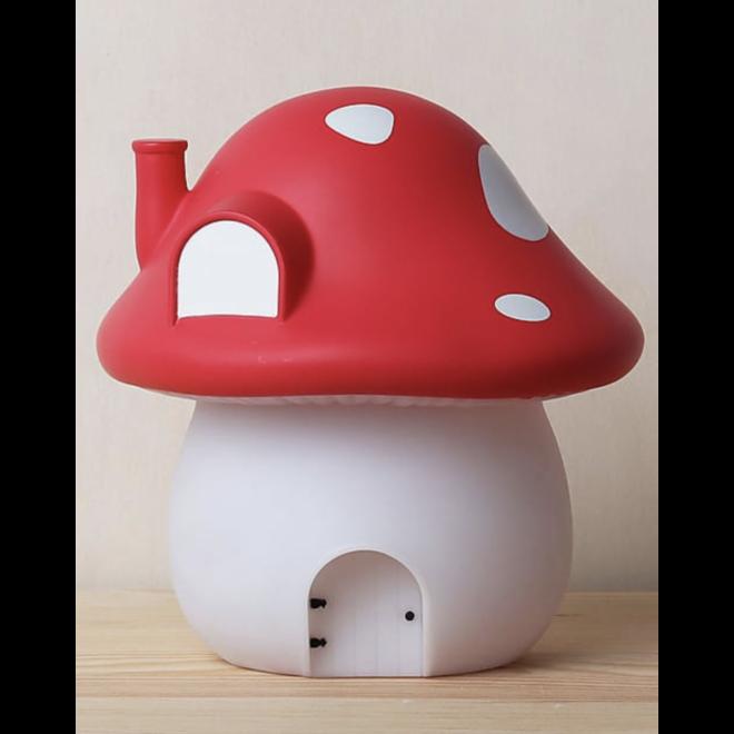 LLC: nachtlamp paddenstoel rood