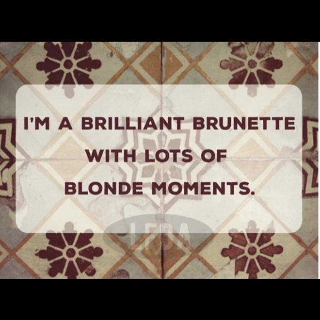 Houten bordje Brunette