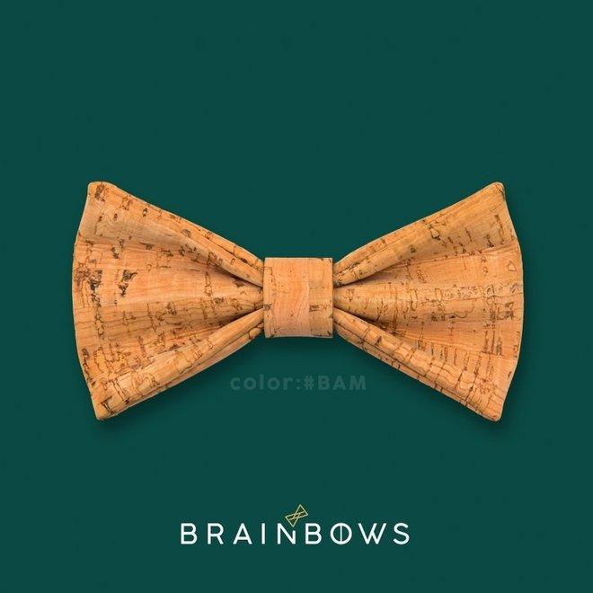 Hipbow strik uit kurkleer bamboo