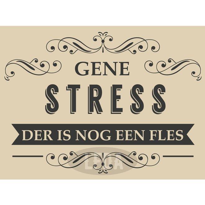 Houten Bordje Gene Stress (zw/w)
