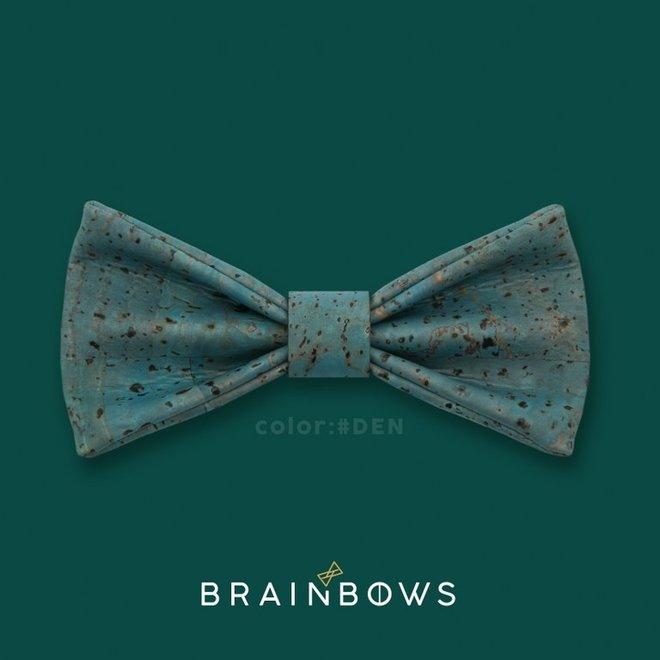 Hipbow strik uit kurkleer denim blue