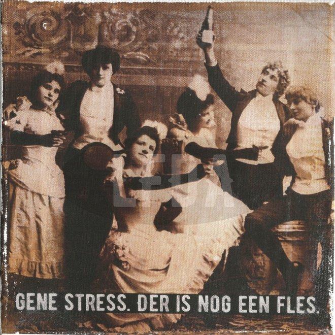 Houten Bordje Gene Stress (party)