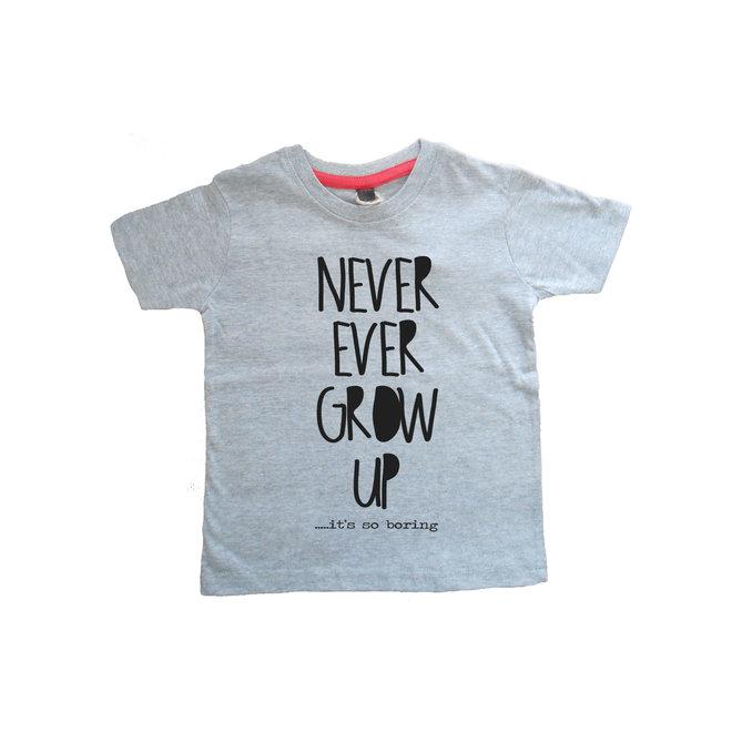 Mini T-shirt Never Grow Up