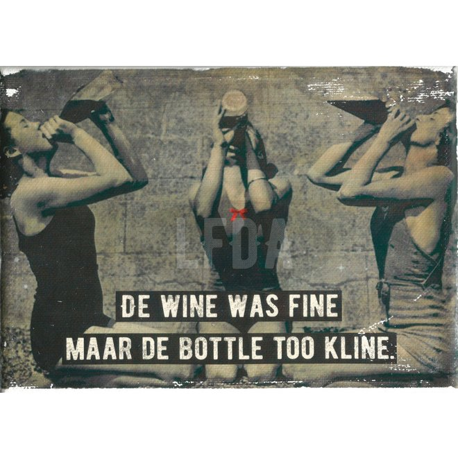 Houten Bordje Too Kline (women)