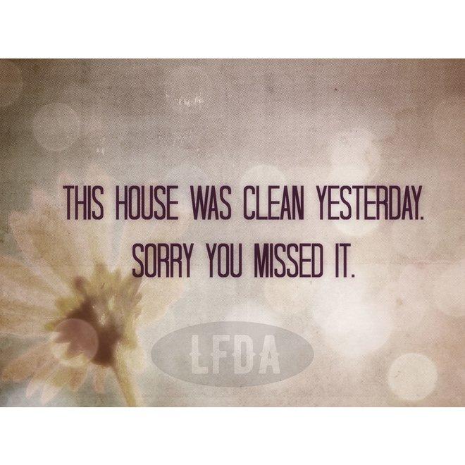 Houten Bordje House Clean