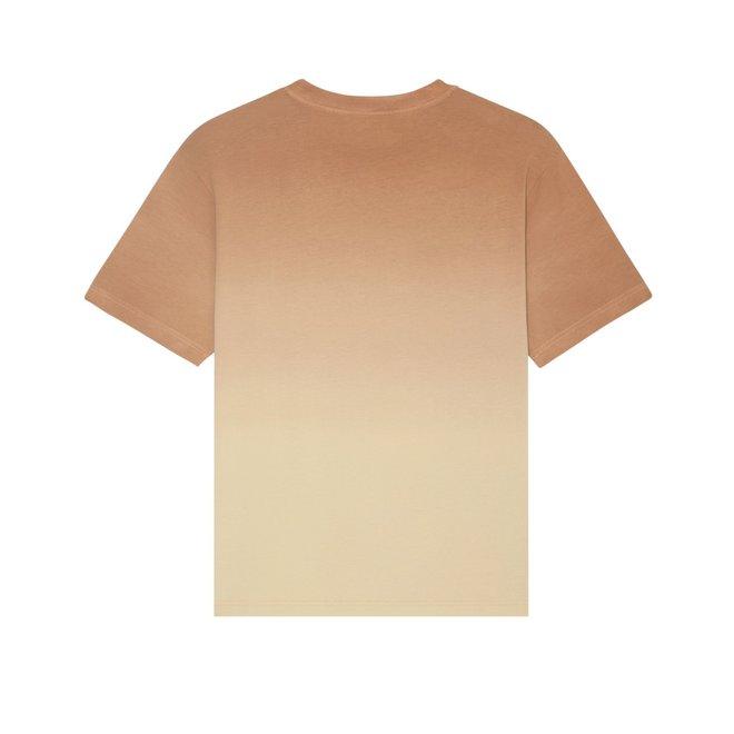 Losse dip dye t shirt zonsondergang