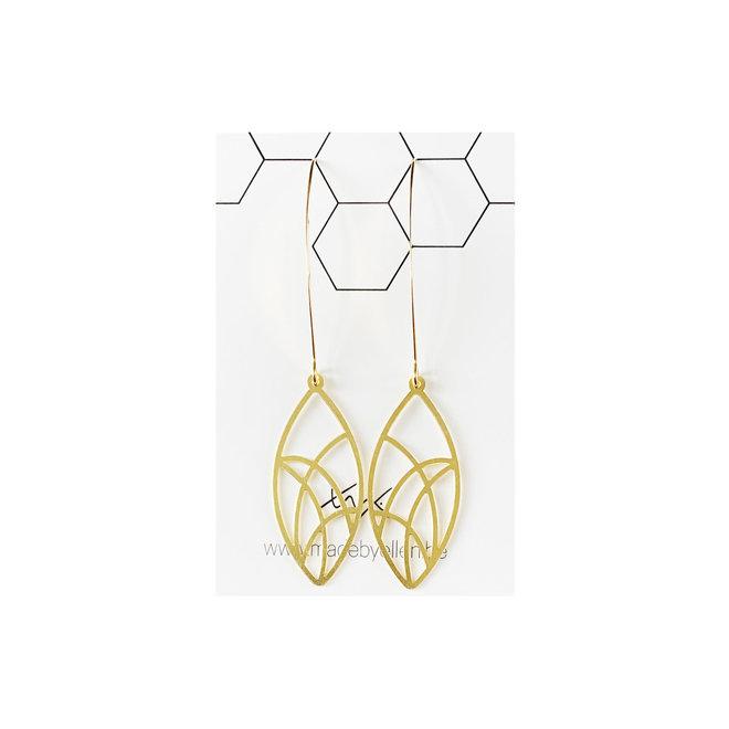 Hangers - groot - goudkleurig - ellips