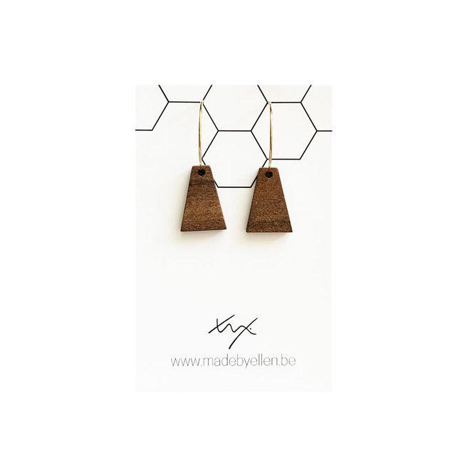 Creolen hout triangel