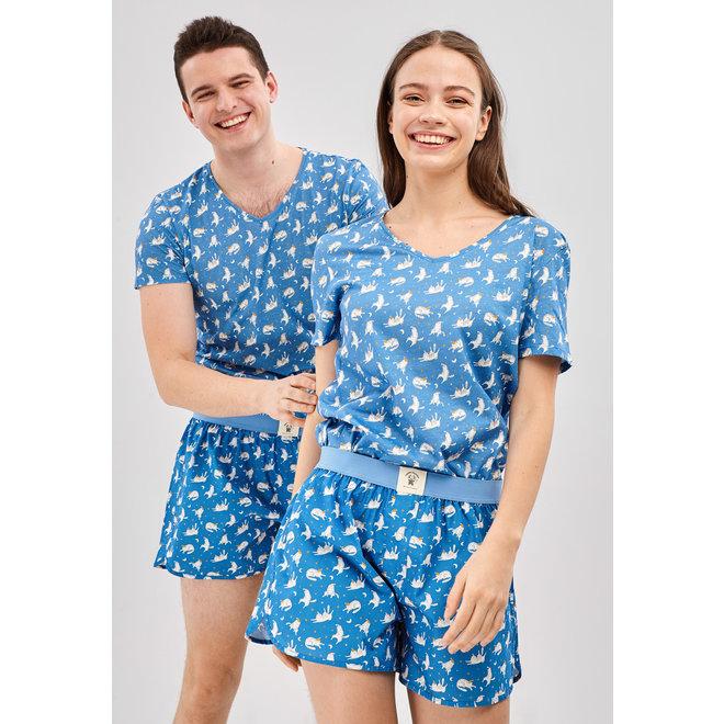Happy Pijama Short PJs Set Sleepy Cats