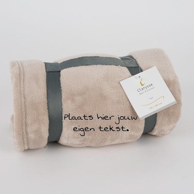 fleece deken gepersonaliseerd