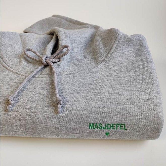 Happy hoodie grijs vrouw 'Masjoefel'