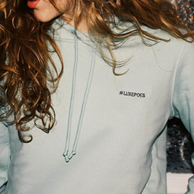 Happy hoodie nordic green vrouw 'Luxepoes'