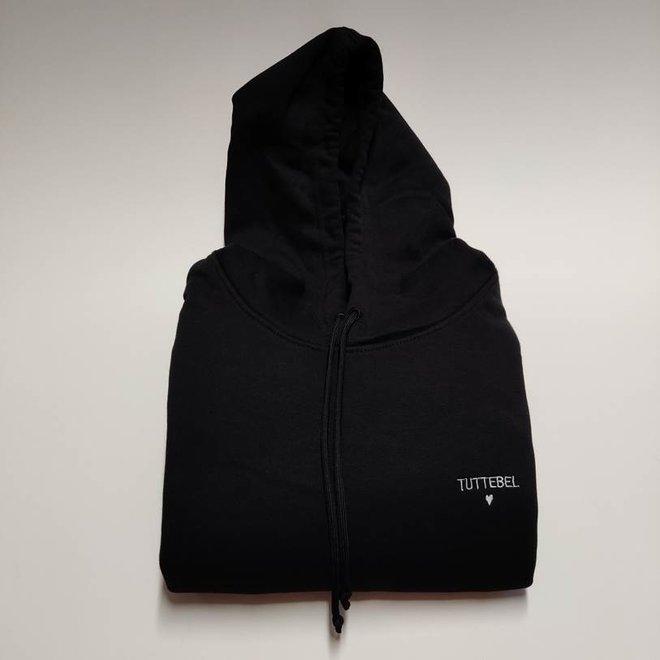 Happy hoodie zwart man 'jij bent mijn favorietje'
