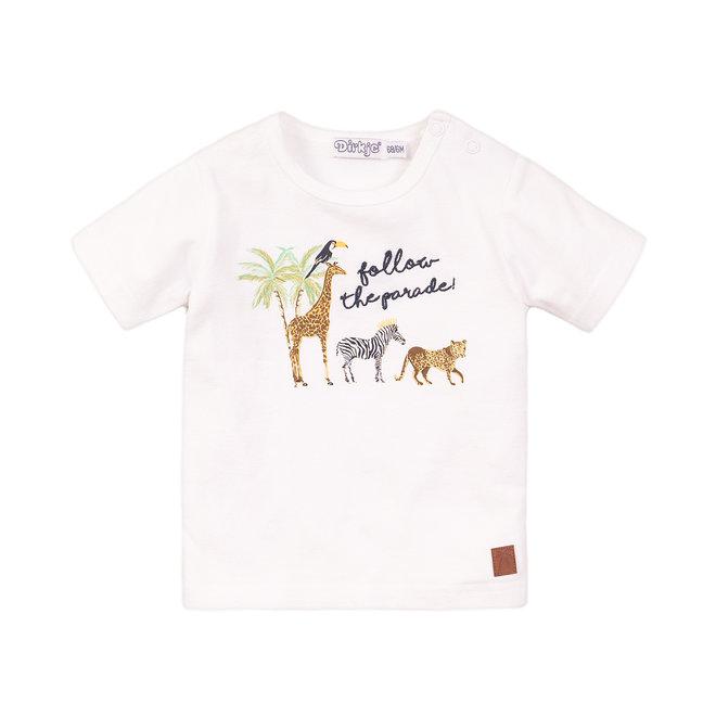 Dirkje: shirt white: follow the parade