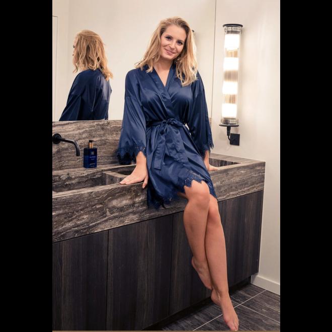 Elena Lace Robe one size
