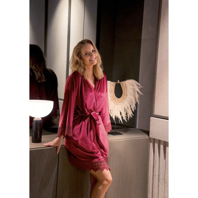 Leanna Velvet Robe one size