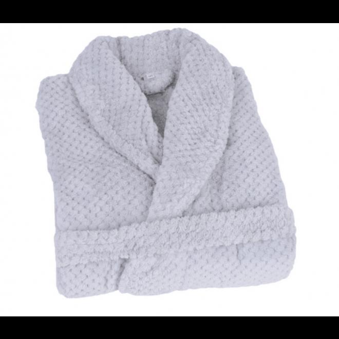 fleece kamerjas met sjaalkraag