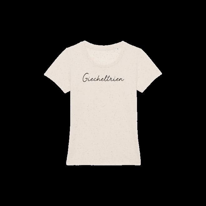 Giecheltrien (Black) - Women T Shirt Ecru Neppy Mandarine