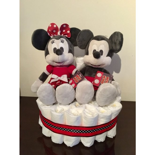 Pampertaart Micky en Minnie Mouse maat 2