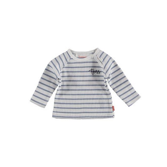 Bess: sweater striped white