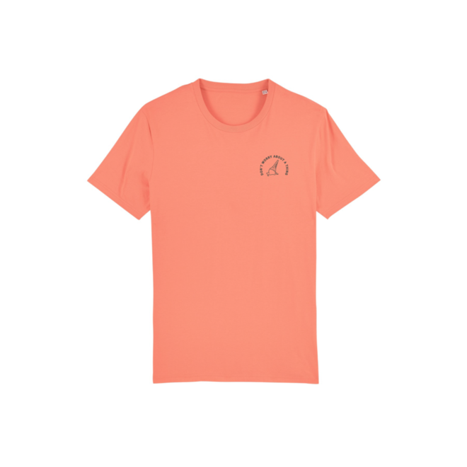 don't worry about a thing - sunset orange t-shirt