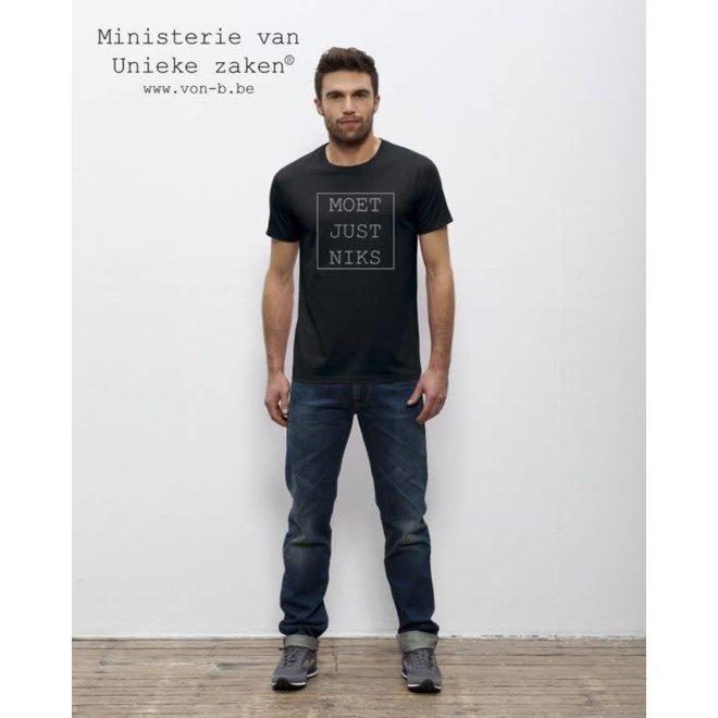 T-shirt man - Moet Just Niks kader