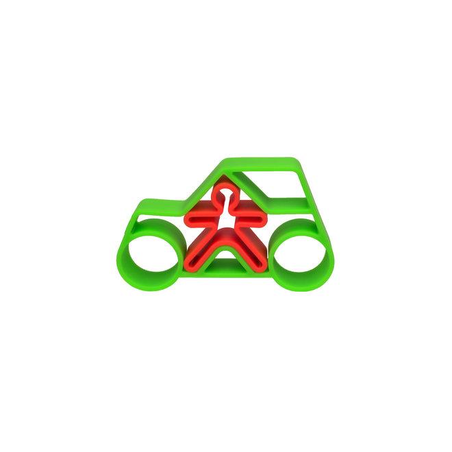 1 Car + 1 Kid Green Neon