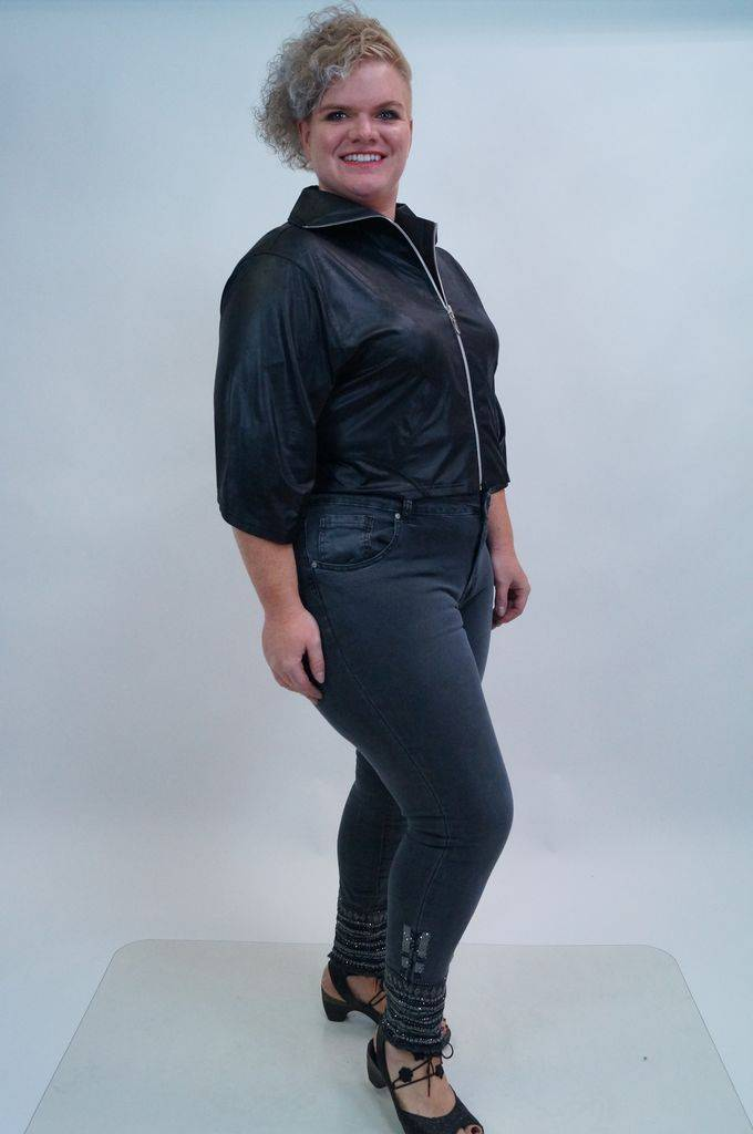 Zwartm Leather Look Mooi Jasje K5001 Magna LeatherSuper N0OXwPZk8n