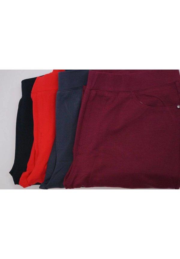 Wonderbaar Superstretch Pantalon / Tregging (LY347 Bordo zonder knoop ND-54